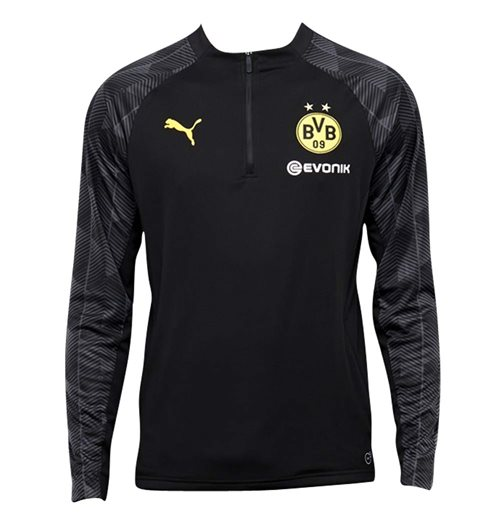 Buy 2018-2019 Borussia Dortmund Puma Quarter Zip Training Top (Black) 831177e59