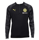 2018-2019 Borussia Dortmund Puma Quarter Zip Training Top (Black)