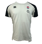 2018-2019 England Rugby Vapordri Performance Cotton Tee (Oyster Grey)