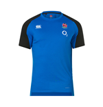 2018-2019 England Rugby Vapordri Performance Cotton Tee (Blue)