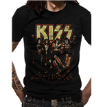 Kiss - Skull Line Up - Unisex T-shirt Black