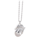 The Rolling Stones Necklace: Silver Tongue