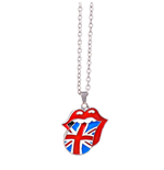 The Rolling Stones Necklace: Union Jack Tongue