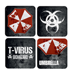 Resident Evil Lenticular Coaster 4-Pack Umbrella