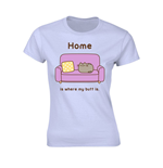 Pusheen Ladies T-Shirt Home is where my Butt is