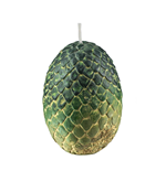 Game of Thrones Votive Candle Green Dragon Egg 6 x 9 cm