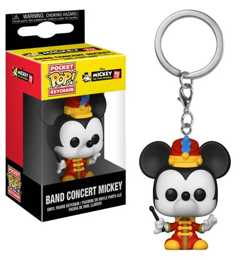 Mickey Maus 90th Anniversary Pocket POP! Vinyl Keychain Band Concert Mickey 4 cm