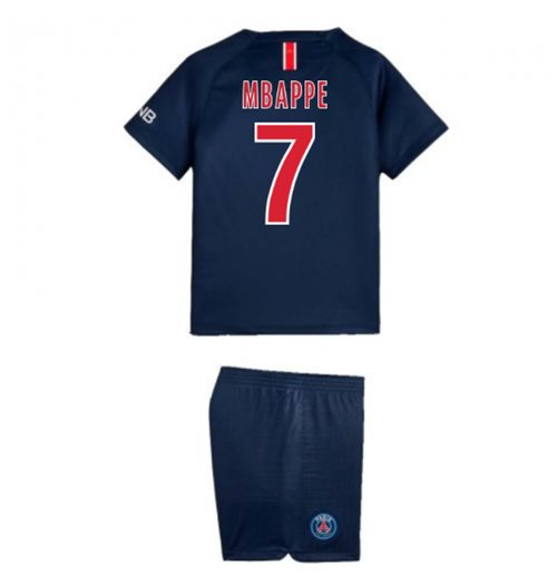 wholesale dealer 9d2a5 715e0 2018-2019 PSG Home Nike Little Boys Mini Kit (Mbappe 7)