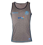 2018-2019 Scotland Macron Rugby Dry Training Singlet (Charcoal)