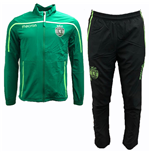 2018-2019 Sporting Lisbon Macron Travel Tracksuit (Green)