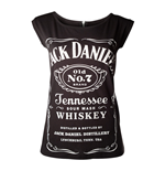 JACK DANIEL'S Old No.7 Brand Shirt with Back Zipper, Female, Small, Black