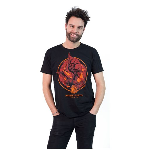MONSTER HUNTER Screaming Rathalos T-Shirt, Male, Extra Large, Black