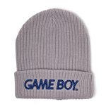 NINTENDO Gameboy Logo Embroidered Rollup Beanie, Grey