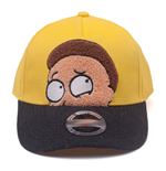 RICK AND MORTY Morty Chenille Embroidered Curved Bill Cap, Yellow/Black