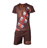 STAR WARS Chewbacca Shortama Nightwear Set, Male, Extra Large, Brown