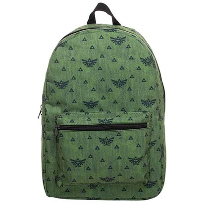 The LEGEND OF ZELDA Triforce Pattern Green Backpack Bag
