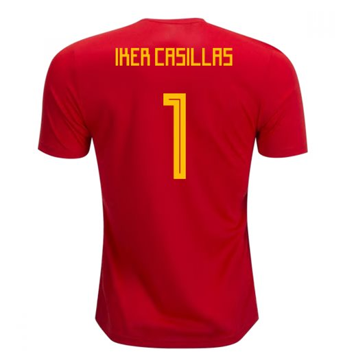 2018-19 Spain Home Shirt (Iker Casillas 1) - Kids