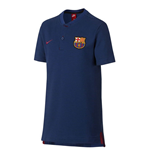 2018-2019 Barcelona Nike Authentic Polo Shirt (Deep Royal) - Kids