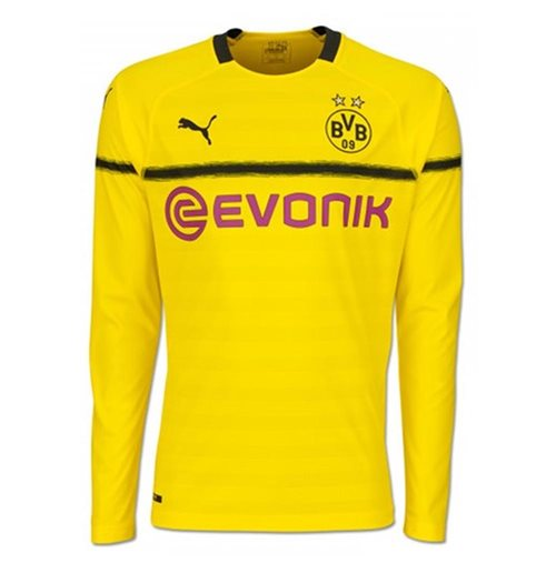 Buy 2018-2019 Borussia Dortmund Home UCL Long Sleeve Puma