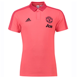2018-2019 Man Utd Adidas Training Polo Shirt (Pink)