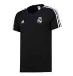 2018-2019 Real Madrid Adidas 3S Tee (Black)