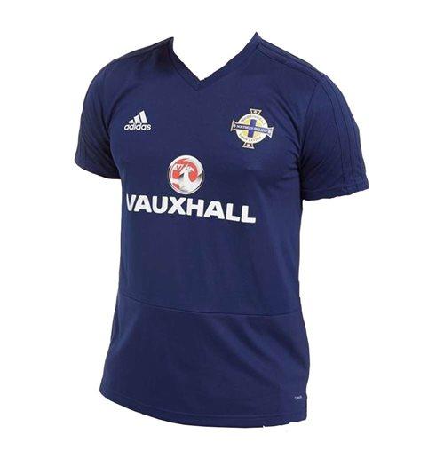 0fecc9b39 Buy Official 2018-19 Northern Ireland Adidas Training Shirt (Navy)