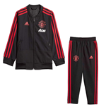 2018-2019 Man Utd Adidas Mini Presentation Tracksuit (Black) - Infants