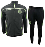 2018-2019 Sporting Lisbon Macron Travel Tracksuit (Black)