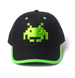 SPACE INVADERS Green Classic Invader Patch Curved Bill Cap, Black/Green