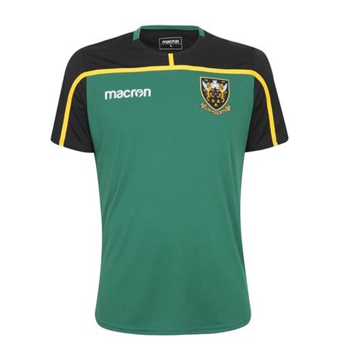 2018-2019 Northampton Saints Macron Players Rugby Training Shirt (Green)
