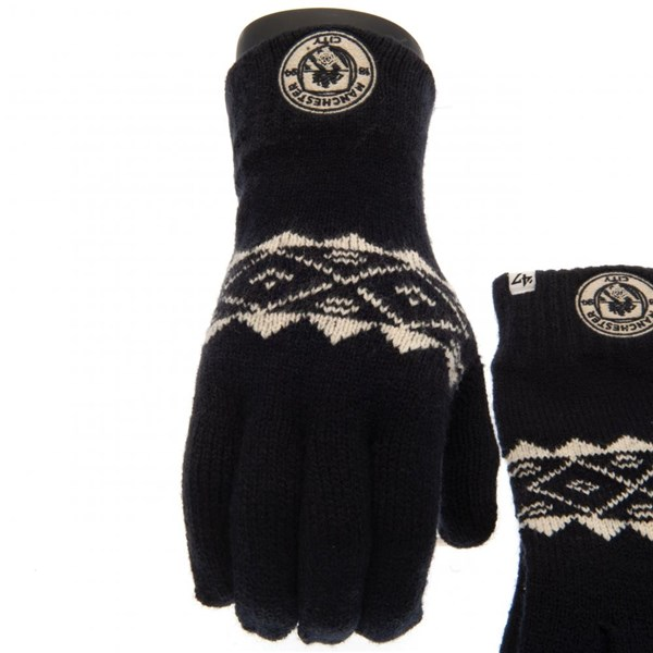 Manchester City F.C. Knitted Gloves Adult Fairisle