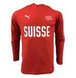 2018-2019 Switzerland Puma 1/4 Zip Training Top (Red)