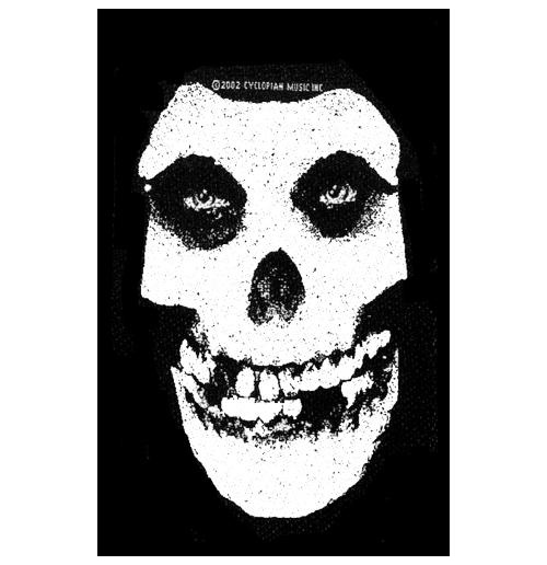 Misfits Standard Patch: White Skull (Loose)