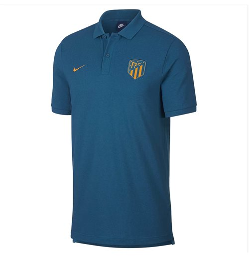 2018-2019 Atletico Madrid Nike Authentic Grand Slam Polo Shirt (Green Abyss)
