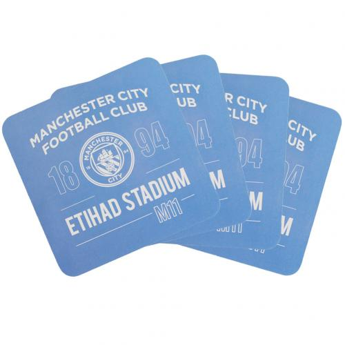 Manchester City F.C. 4pk Coaster Set