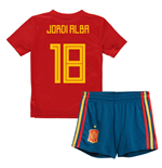 2018-19 Spain Home Mini Kit (Jordi Alba 18)