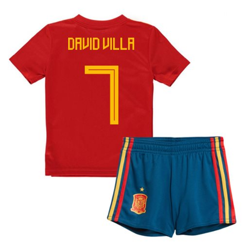 2018-19 Spain Home Mini Kit (David Villa 7)