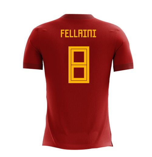 2018-2019 Belgium Airo Concept Home Shirt (Fellaini 8) - Kids