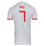 2018-2019 Spain Away Adidas Football Shirt (Raul 7)