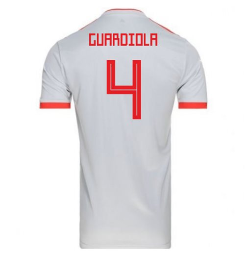 2018-2019 Spain Away Adidas Football Shirt (Guardiola 4) - Kids