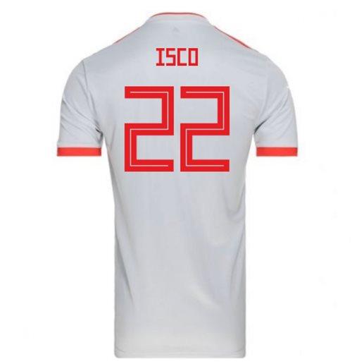 c15a8a5ea Buy 2018-2019 Spain Away Adidas Football Shirt (Isco 22) - Kids