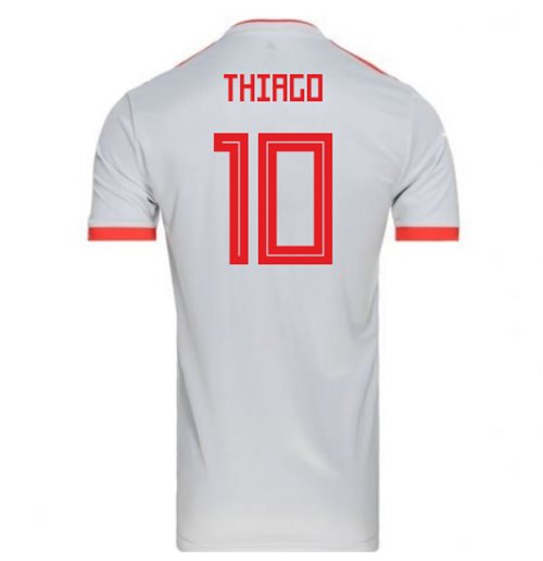 2018-2019 Spain Away Adidas Football Shirt (Thiago 10) - Kids