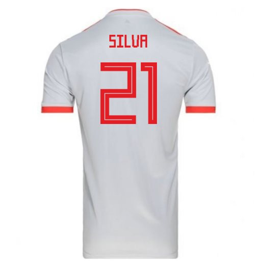 2018-2019 Spain Away Adidas Football Shirt (Silva 21) - Kids