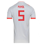 2018-2019 Spain Away Adidas Football Shirt (Puyol 5) - Kids