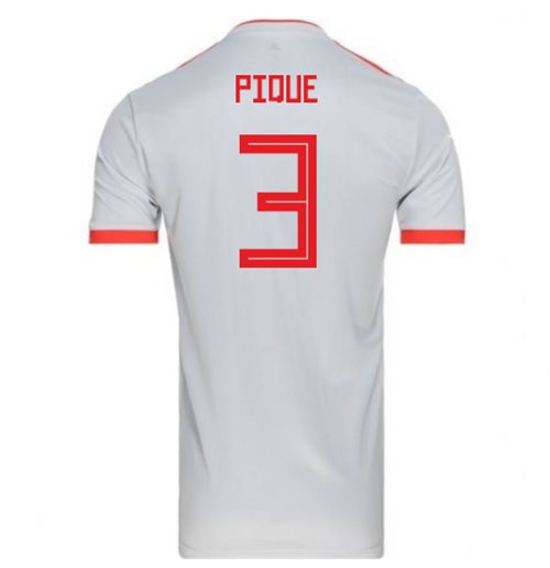 2018-2019 Spain Away Adidas Football Shirt (Pique 3)