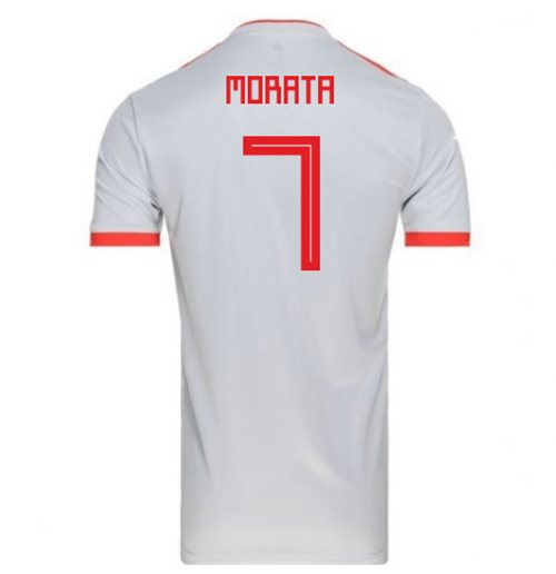2018-2019 Spain Away Adidas Football Shirt (Morata 7)
