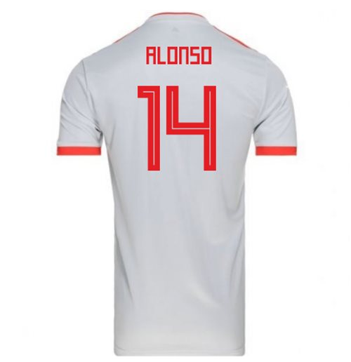 2018-2019 Spain Away Adidas Football Shirt (Alonso 14) - Kids
