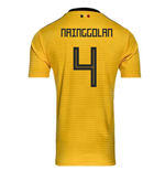 2018-2019 Belgium Away Adidas Football Shirt (Nainggolan 4) - Kids