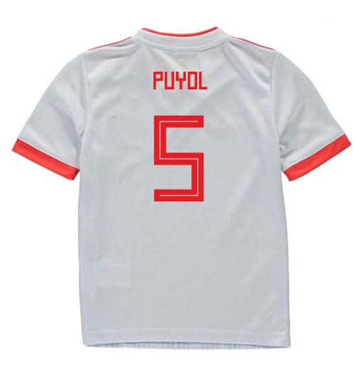 2018-2019 Spain Away Adidas Mini Kit (Puyol 5)