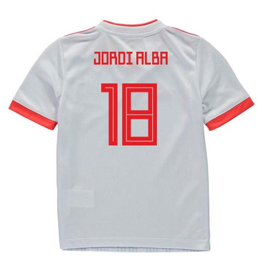 2018-2019 Spain Away Adidas Mini Kit (Jordi Alba 18)
